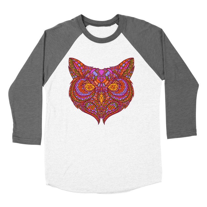 Owl Mosaic Men's Baseball Triblend T-Shirt by godzillarge's Artist Shop