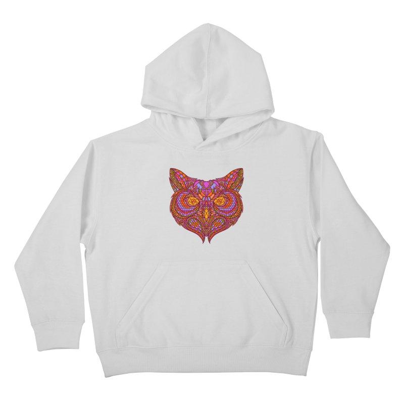 Owl Mosaic Kids Pullover Hoody by godzillarge's Artist Shop