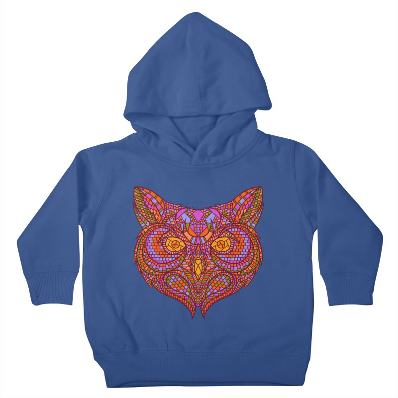 Owl Mosaic Kids Toddler Pullover Hoody by godzillarge's Artist Shop