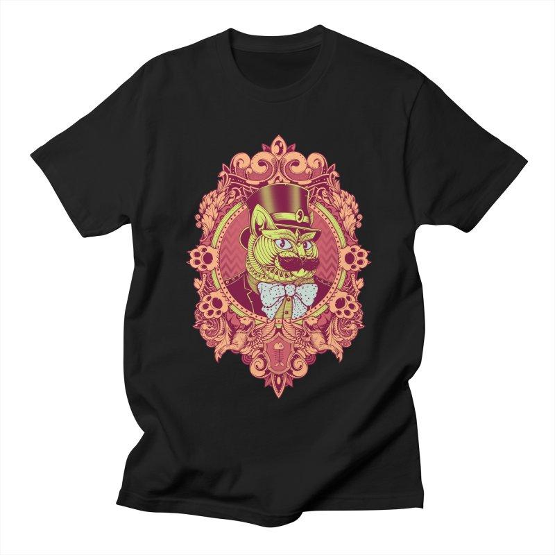 Hipster Mustache Cat Men's T-Shirt by godzillarge's Artist Shop