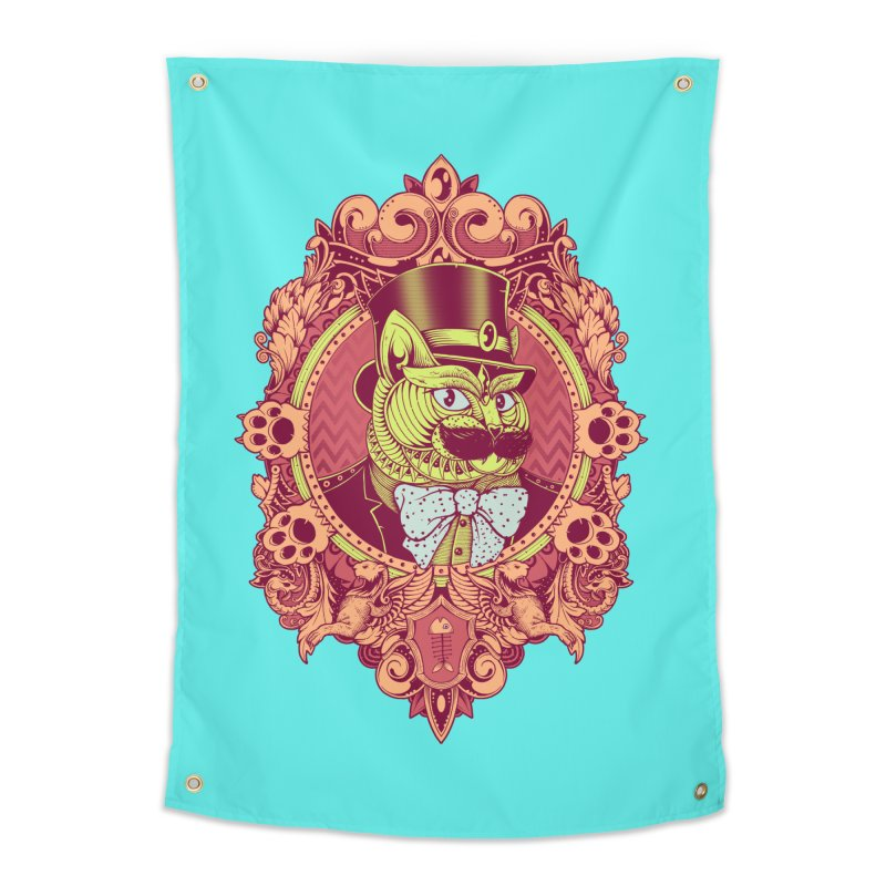 Hipster Mustache Cat Home Tapestry by godzillarge's Artist Shop