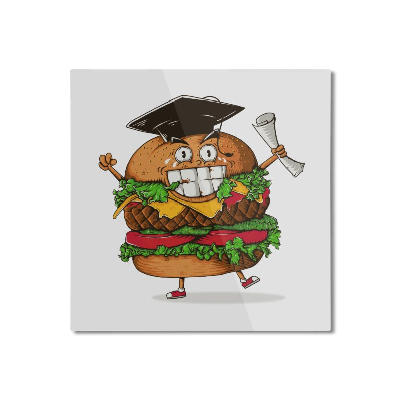 Pass the Nutrition Test Home Mounted Aluminum Print by godzillarge's Artist Shop