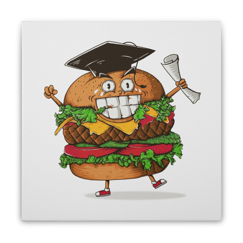 Pass the Nutrition Test Home Stretched Canvas by godzillarge's Artist Shop