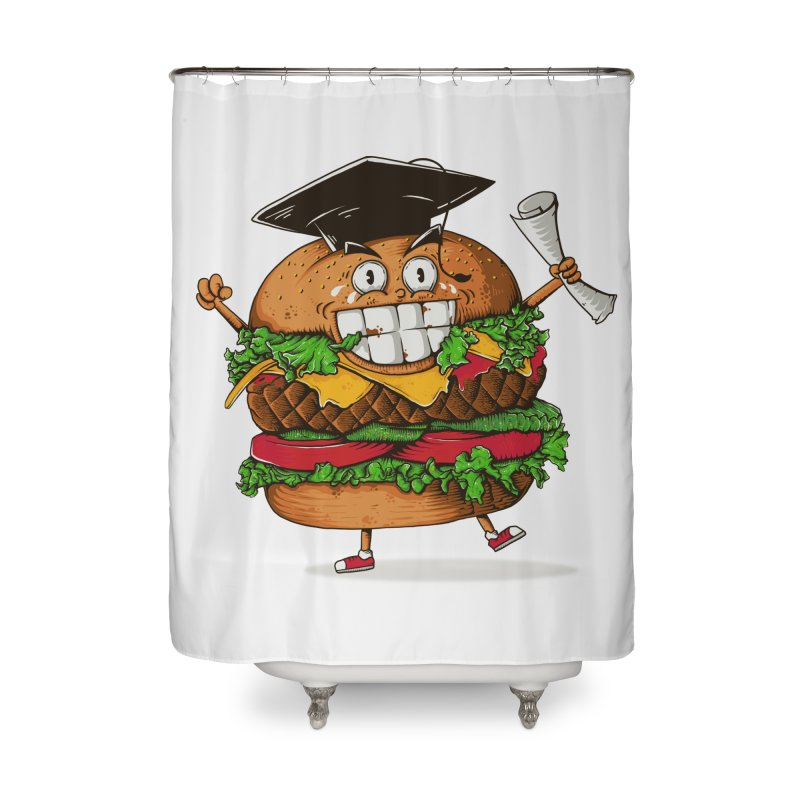Pass the Nutrition Test Home Shower Curtain by godzillarge's Artist Shop