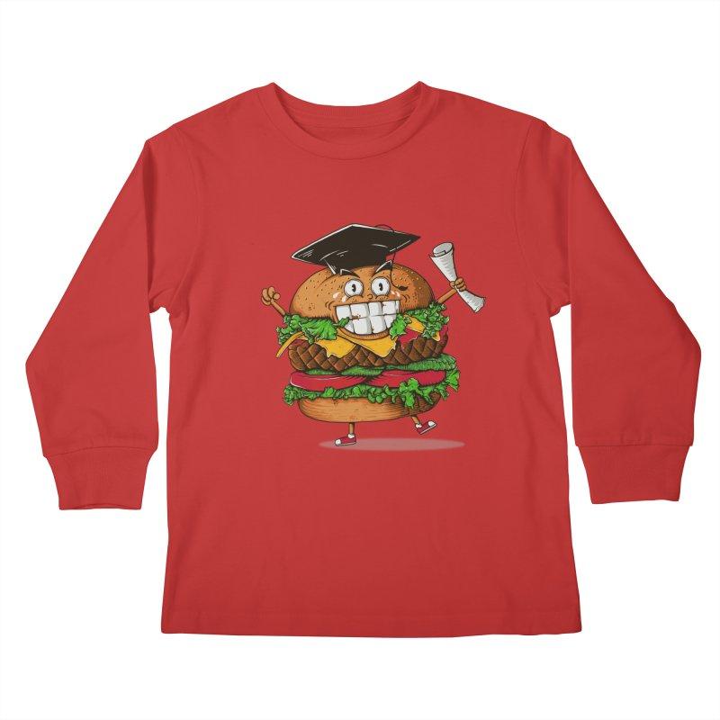 Pass the Nutrition Test Kids Longsleeve T-Shirt by godzillarge's Artist Shop