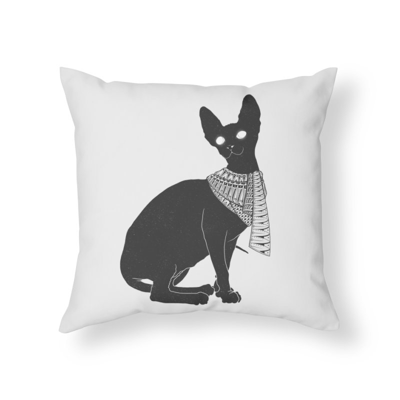 Ancient Cat Home Throw Pillow by godzillarge's Artist Shop