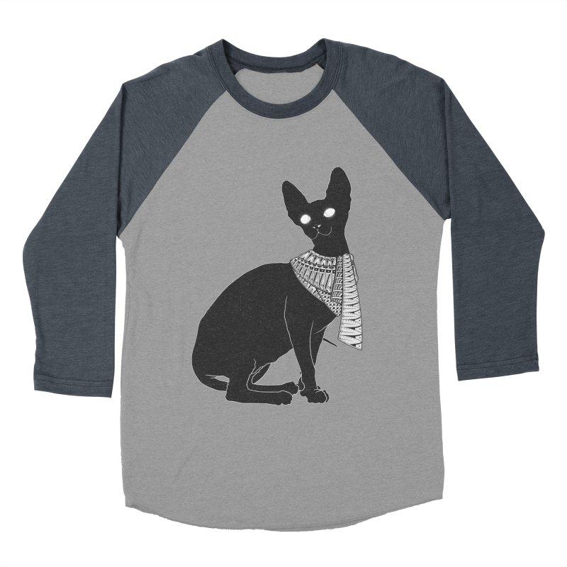 Ancient Cat Men's Baseball Triblend T-Shirt by godzillarge's Artist Shop