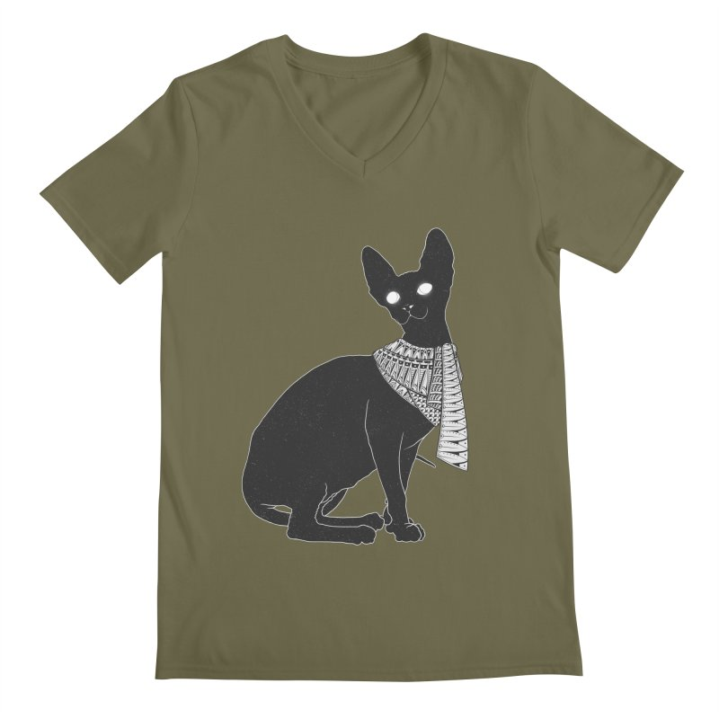 Ancient Cat Men's V-Neck by godzillarge's Artist Shop