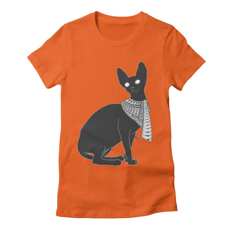 Ancient Cat Women's Fitted T-Shirt by godzillarge's Artist Shop