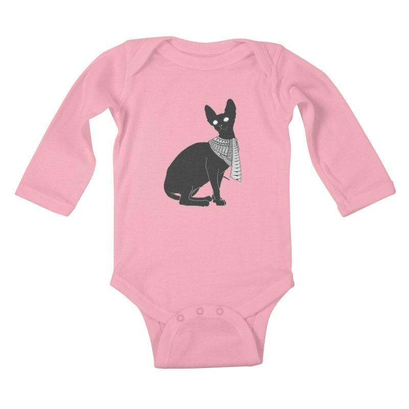 Ancient Cat Kids Baby Longsleeve Bodysuit by godzillarge's Artist Shop