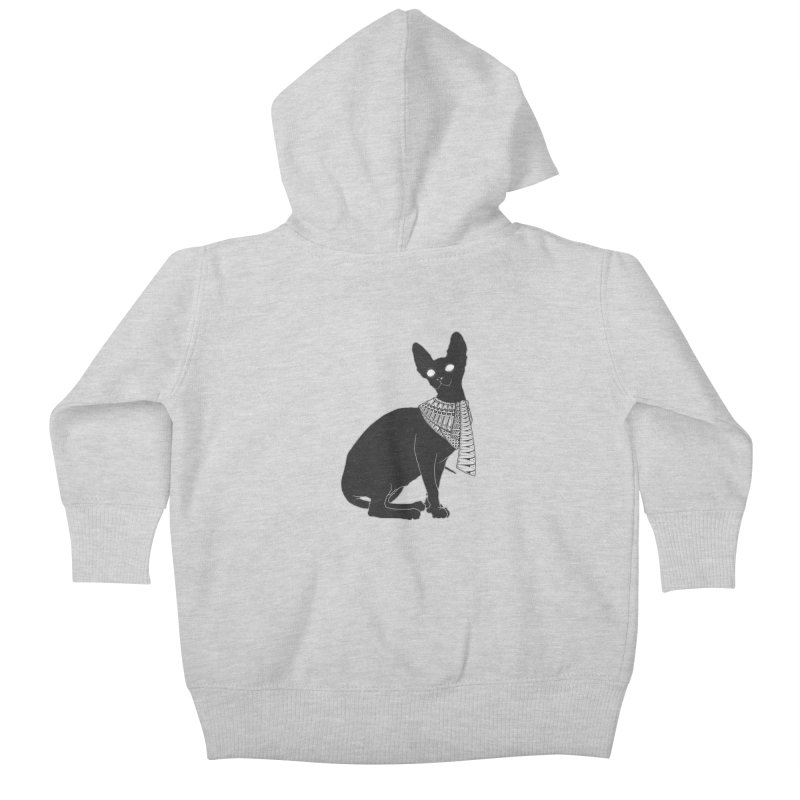 Ancient Cat Kids Baby Zip-Up Hoody by godzillarge's Artist Shop