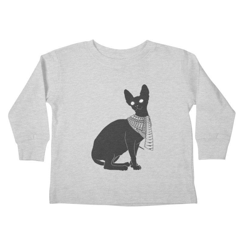 Ancient Cat Kids Toddler Longsleeve T-Shirt by godzillarge's Artist Shop
