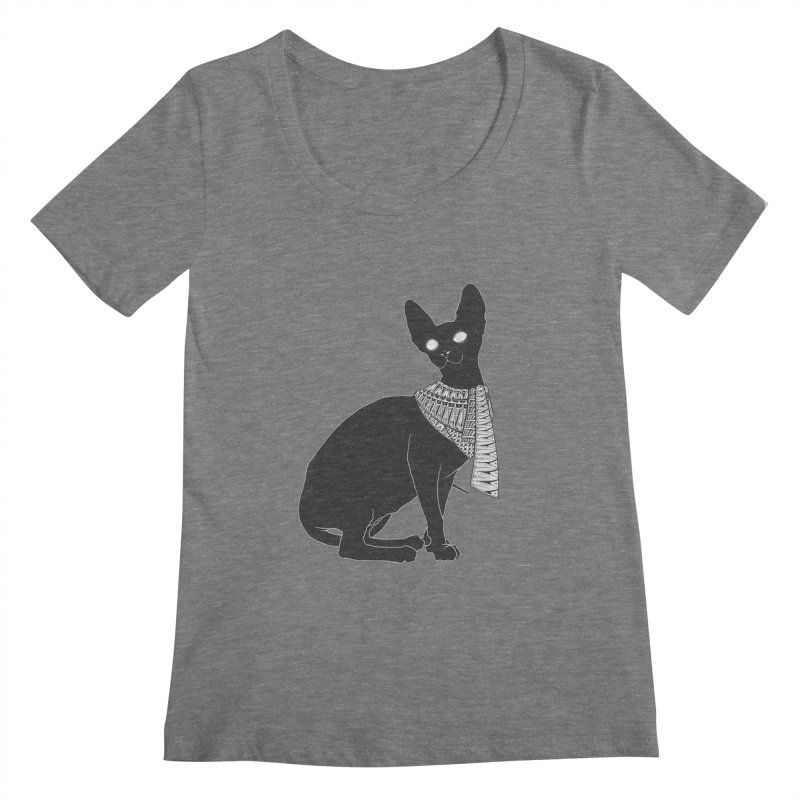 Ancient Cat Women's Scoopneck by godzillarge's Artist Shop