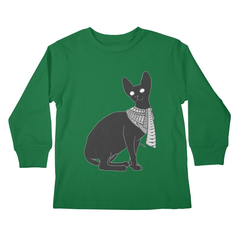 Ancient Cat Kids Longsleeve T-Shirt by godzillarge's Artist Shop