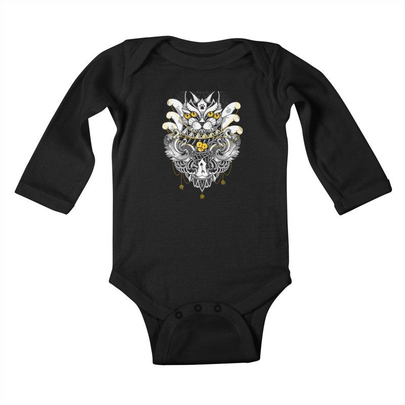 Sacred Ritual Kids Baby Longsleeve Bodysuit by godzillarge's Artist Shop