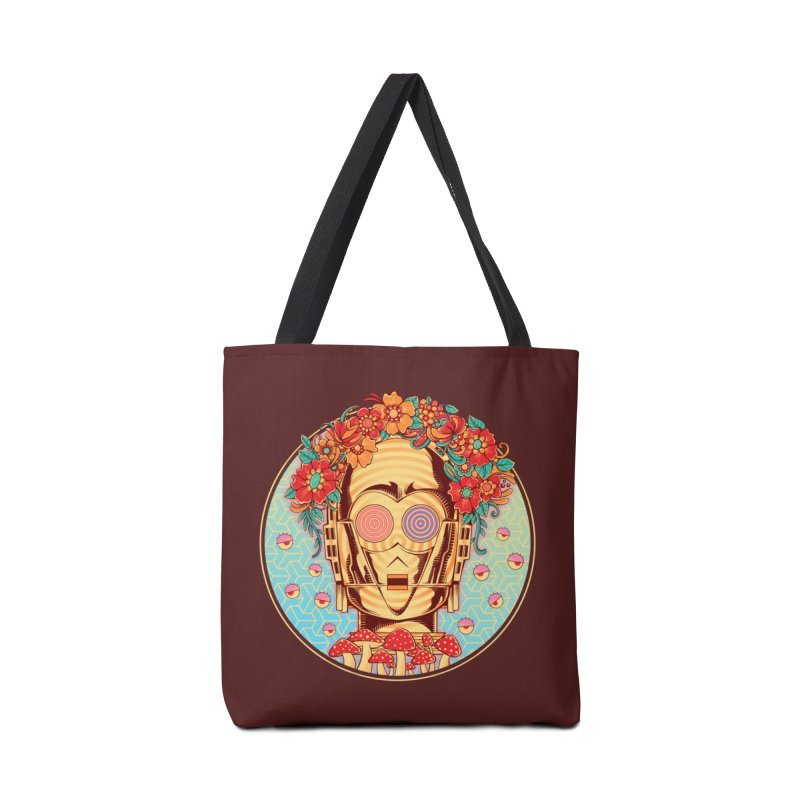 Hippie Droid Accessories Bag by godzillarge's Artist Shop