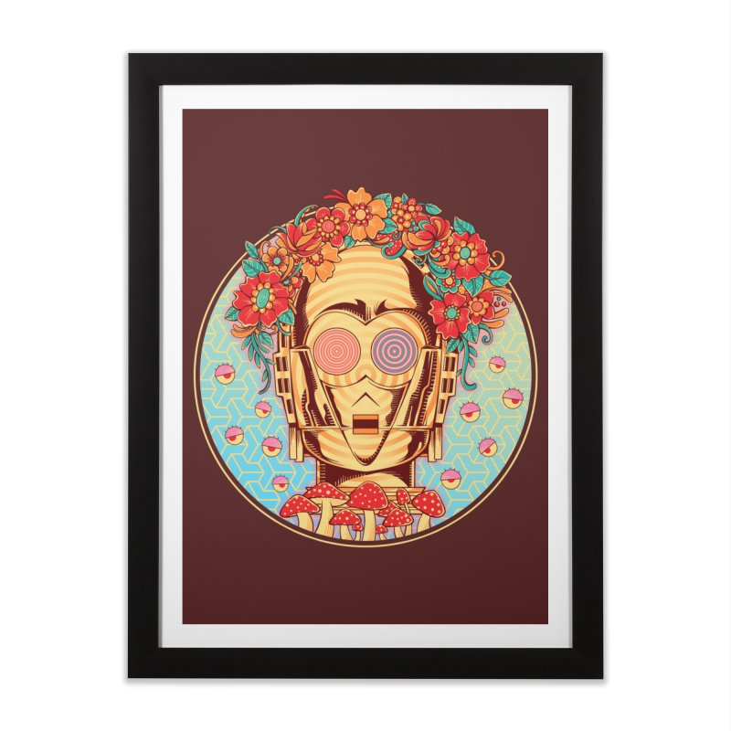 Hippie Droid Home Framed Fine Art Print by godzillarge's Artist Shop