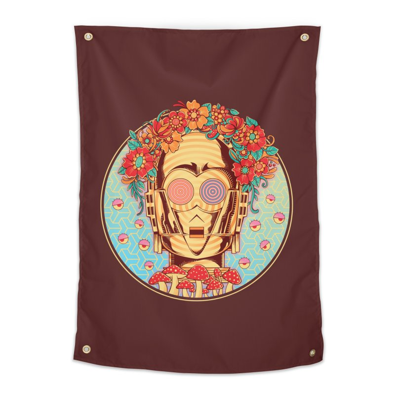 Hippie Droid Home Tapestry by godzillarge's Artist Shop
