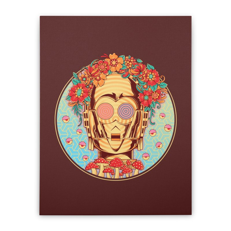 Hippie Droid Home Stretched Canvas by godzillarge's Artist Shop