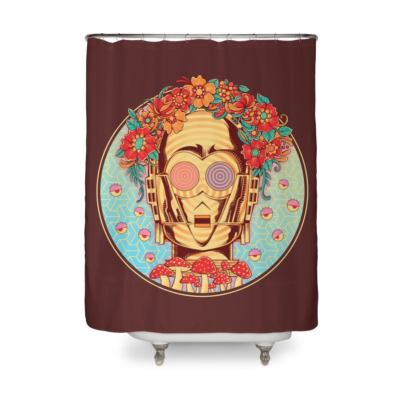 Hippie Droid Home Shower Curtain by godzillarge's Artist Shop