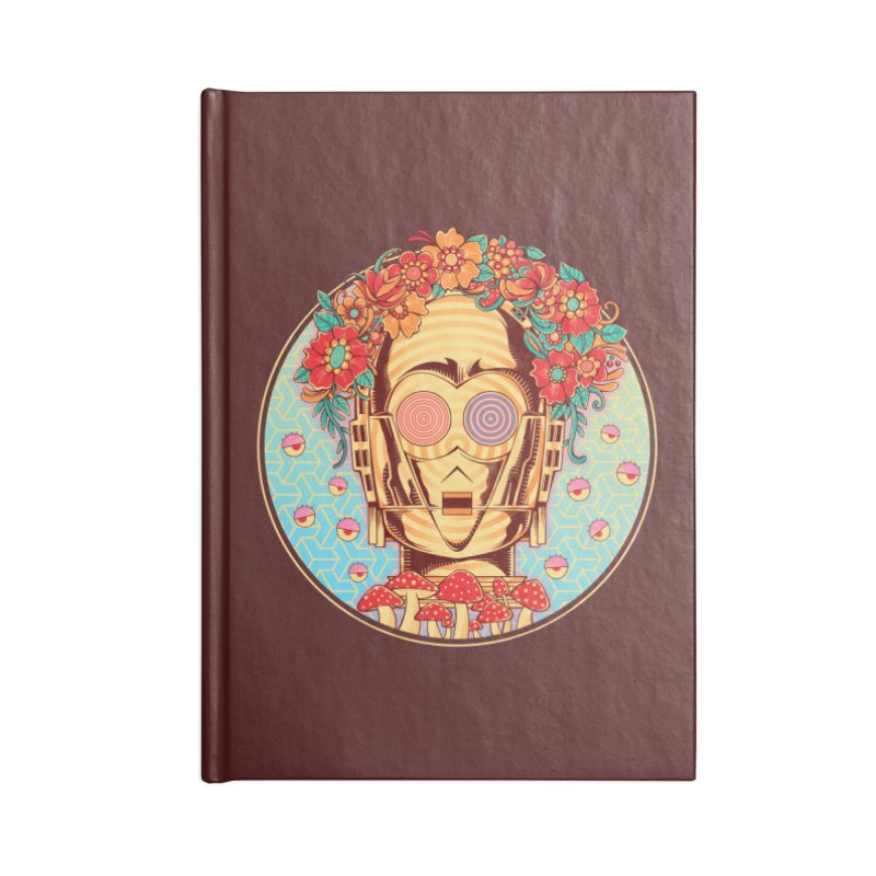 Hippie Droid Accessories Notebook by godzillarge's Artist Shop