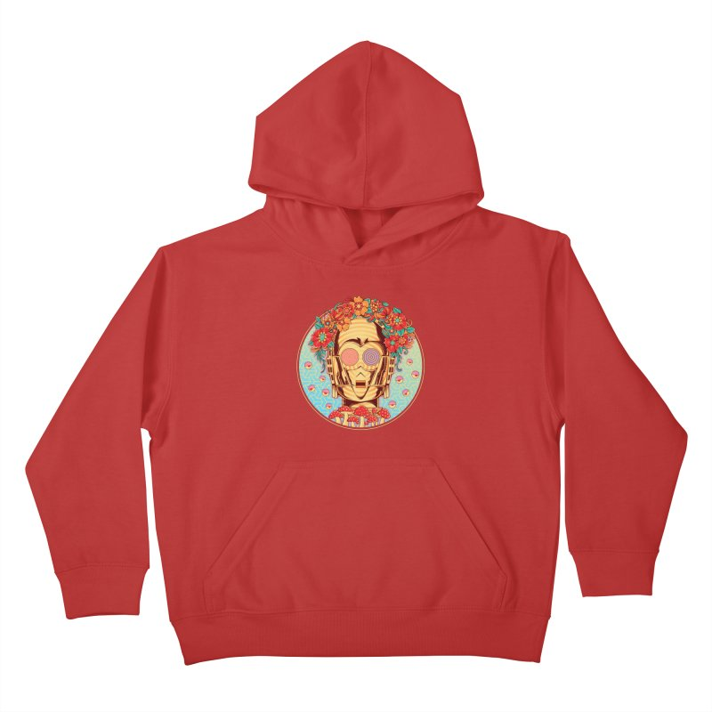 Hippie Droid Kids Pullover Hoody by godzillarge's Artist Shop