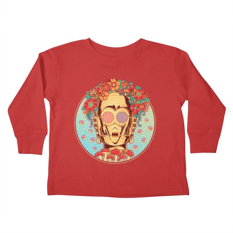 Hippie Droid Kids Toddler Longsleeve T-Shirt by godzillarge's Artist Shop