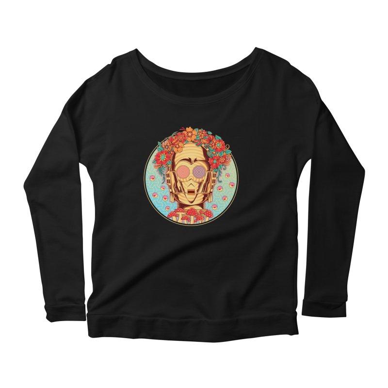 Hippie Droid Women's Longsleeve Scoopneck  by godzillarge's Artist Shop