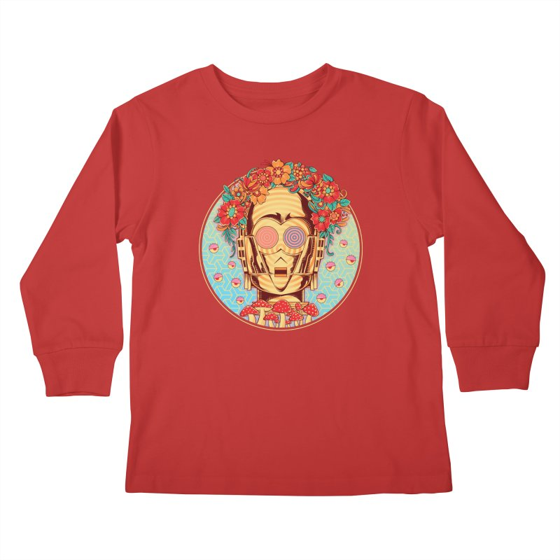 Hippie Droid Kids Longsleeve T-Shirt by godzillarge's Artist Shop