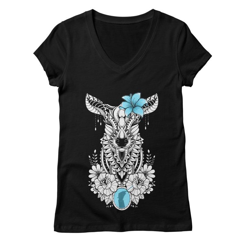 Lily Women's V-Neck by godzillarge's Artist Shop