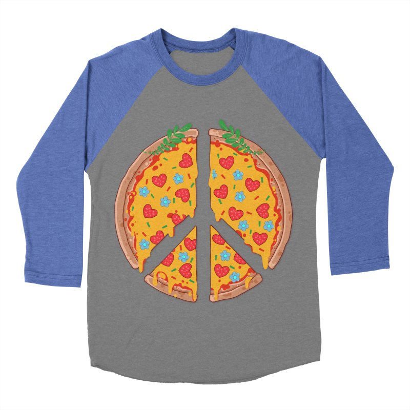 Peazza, Love and Joy Men's Baseball Triblend T-Shirt by godzillarge's Artist Shop