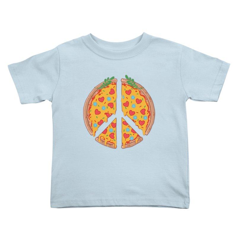 Peazza, Love and Joy Kids Toddler T-Shirt by godzillarge's Artist Shop
