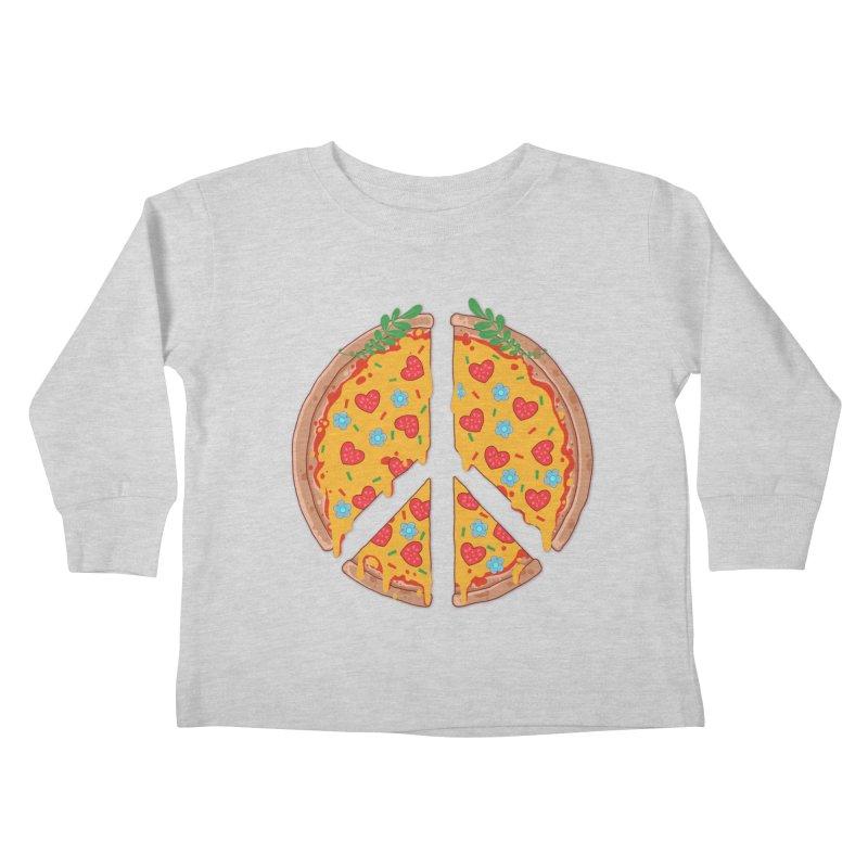Peazza, Love and Joy Kids Toddler Longsleeve T-Shirt by godzillarge's Artist Shop