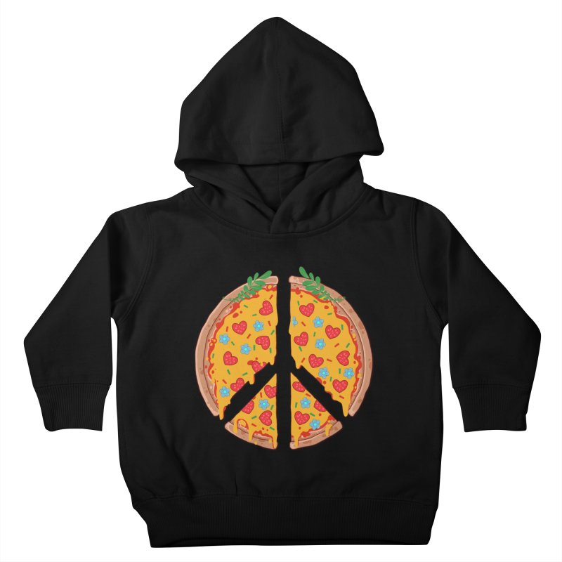 Peazza, Love and Joy Kids Toddler Pullover Hoody by godzillarge's Artist Shop