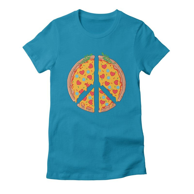 Peazza, Love and Joy Women's Fitted T-Shirt by godzillarge's Artist Shop