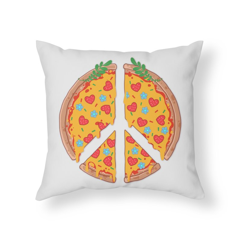 Peazza, Love and Joy Home Throw Pillow by godzillarge's Artist Shop