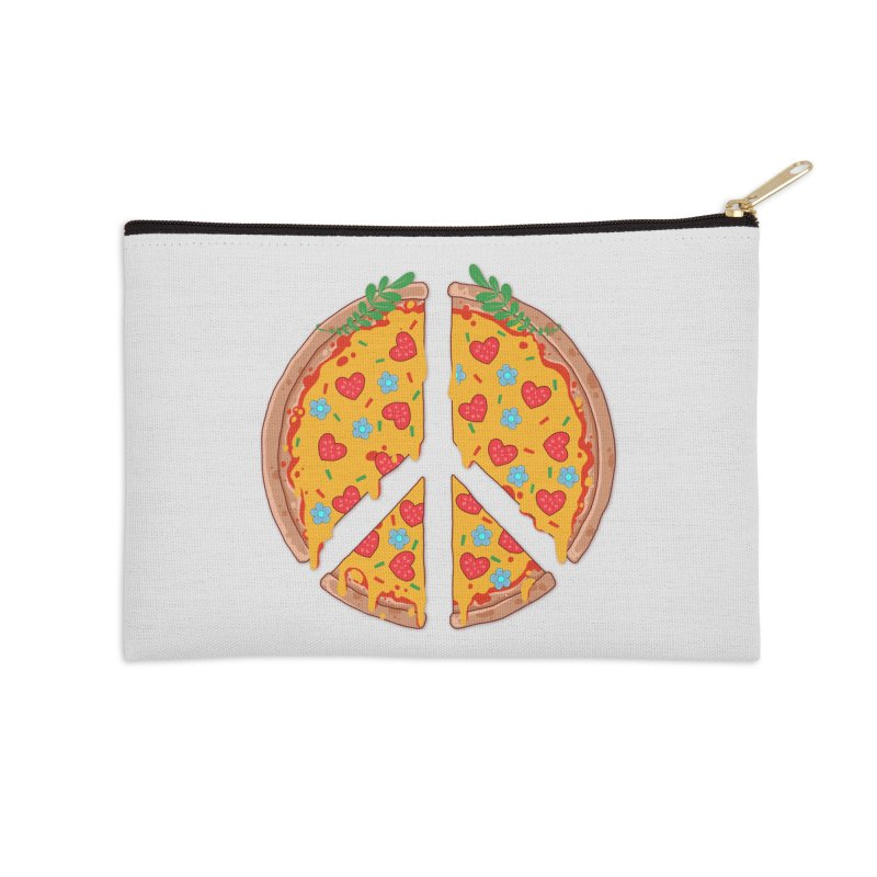 Peazza, Love and Joy Accessories Zip Pouch by godzillarge's Artist Shop