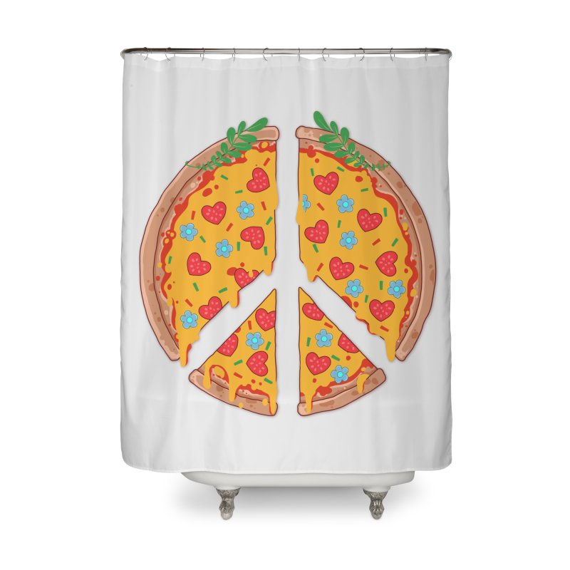 Peazza, Love and Joy Home Shower Curtain by godzillarge's Artist Shop