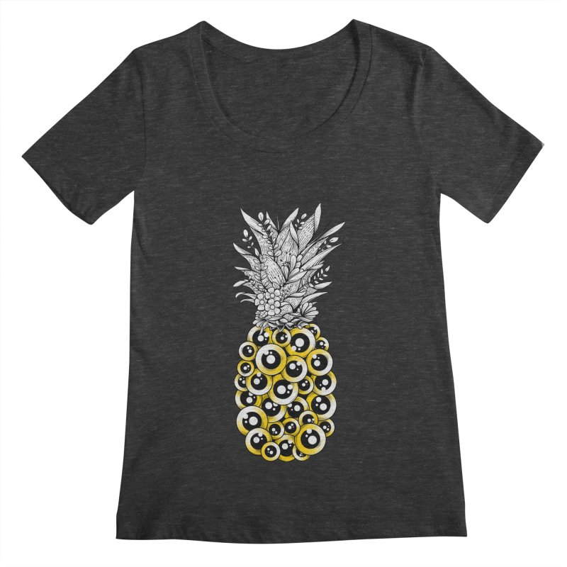 Tropical Illusion Women's Scoopneck by godzillarge's Artist Shop