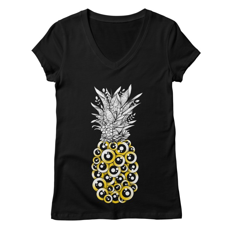 Tropical Illusion Women's V-Neck by godzillarge's Artist Shop