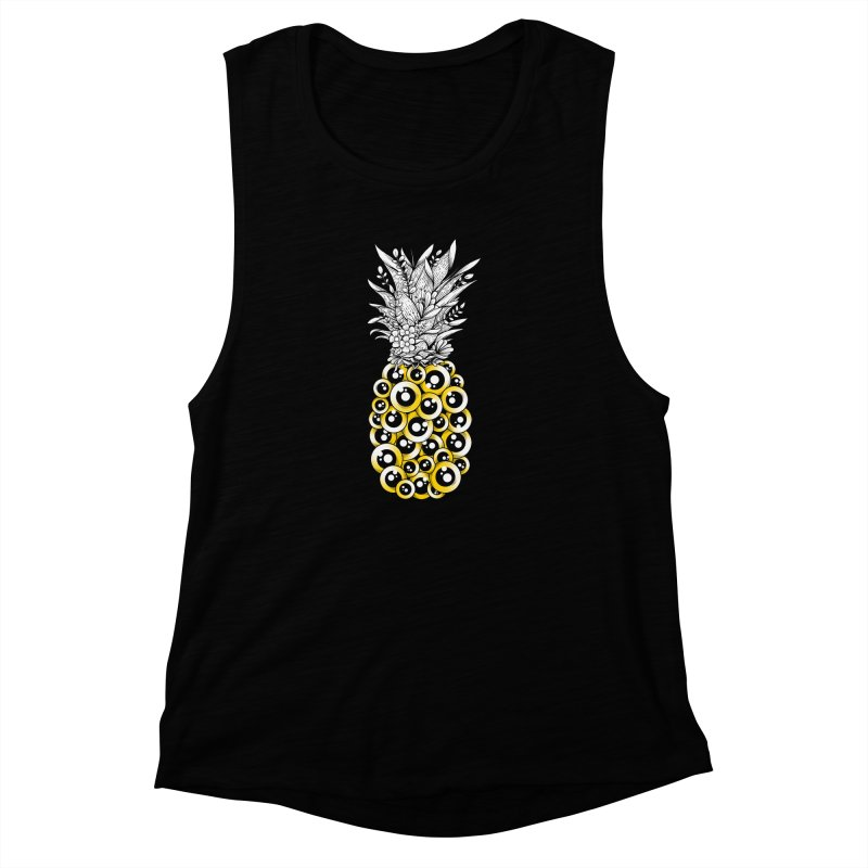 Tropical Illusion Women's Muscle Tank by godzillarge's Artist Shop