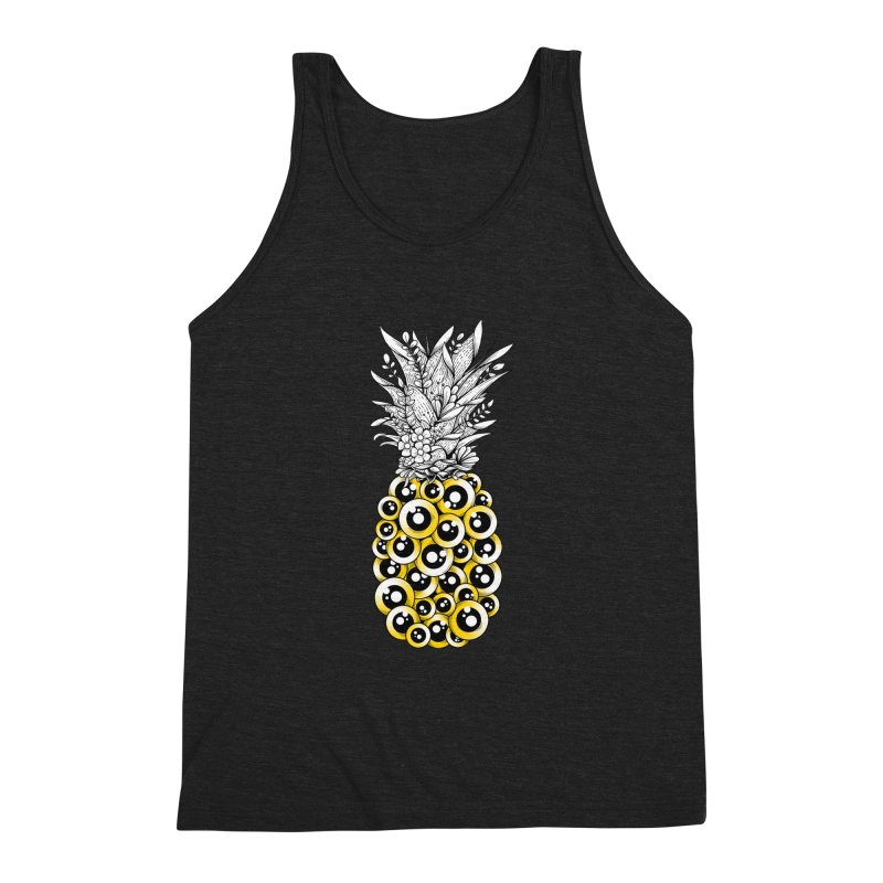 Tropical Illusion Men's Triblend Tank by godzillarge's Artist Shop