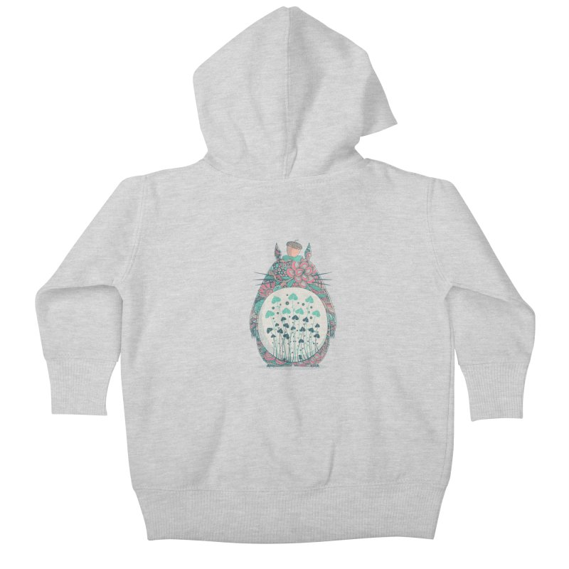 Unexpected Encounter Kids Baby Zip-Up Hoody by godzillarge's Artist Shop