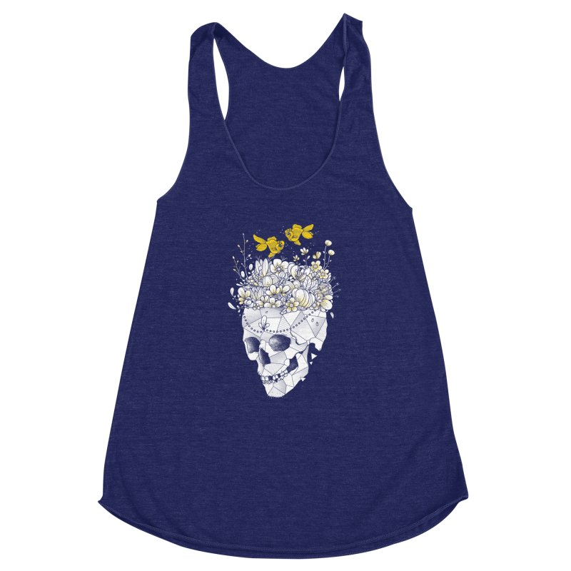 Get Lost With You Women's Racerback Triblend Tank by godzillarge's Artist Shop