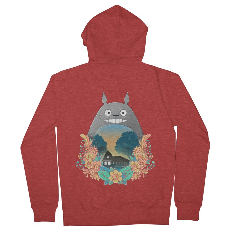 My Haunted House Men's Zip-Up Hoody by godzillarge's Artist Shop