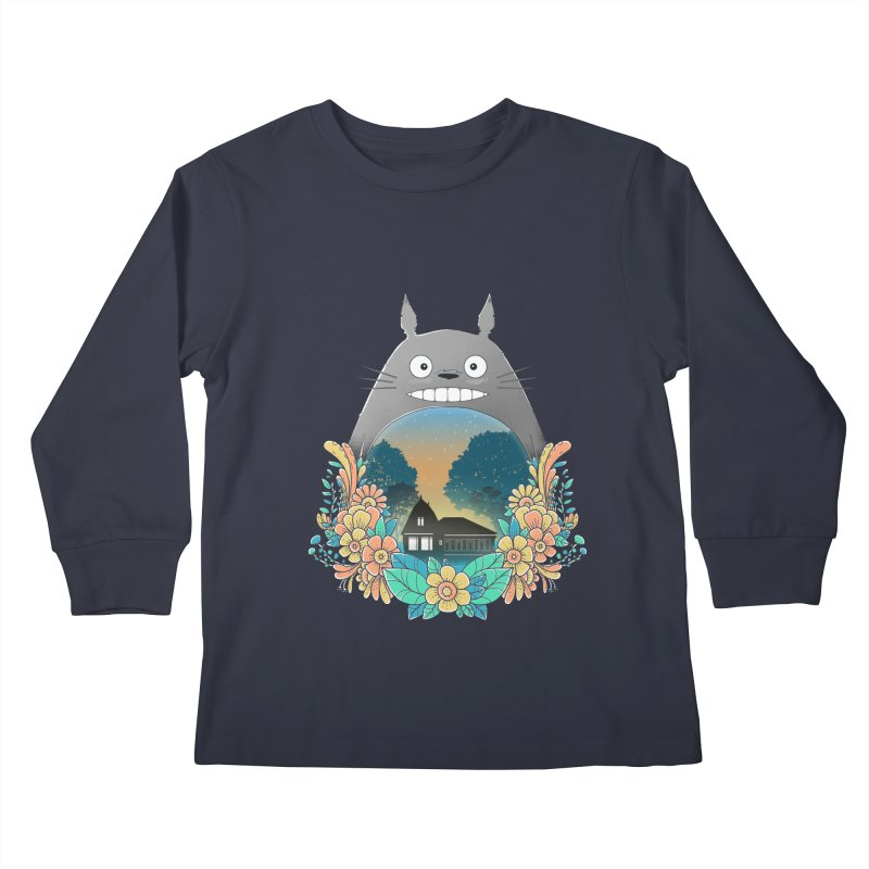 My Haunted House Kids Longsleeve T-Shirt by godzillarge's Artist Shop