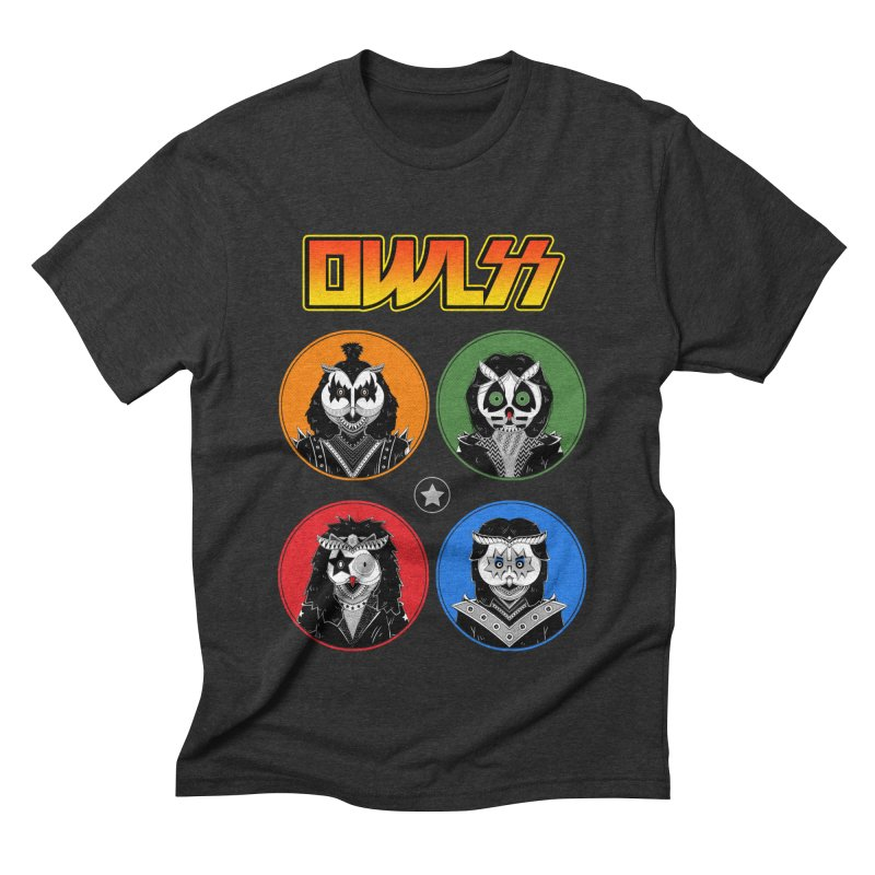 Rock and Owl All Night Men's Triblend T-Shirt by godzillarge's Artist Shop
