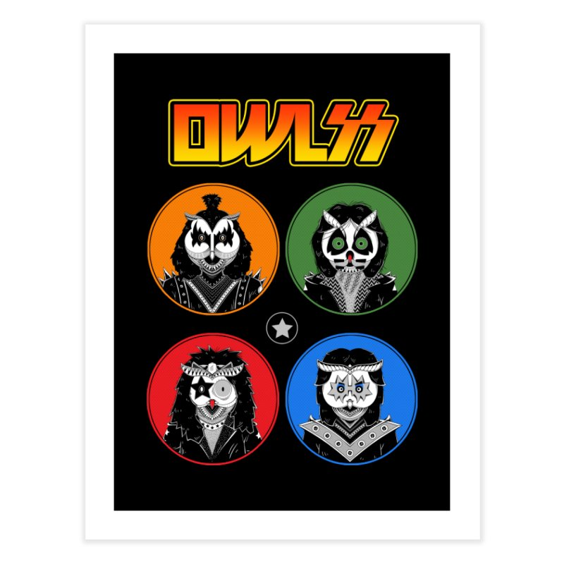 Rock and Owl All Night Home Fine Art Print by godzillarge's Artist Shop