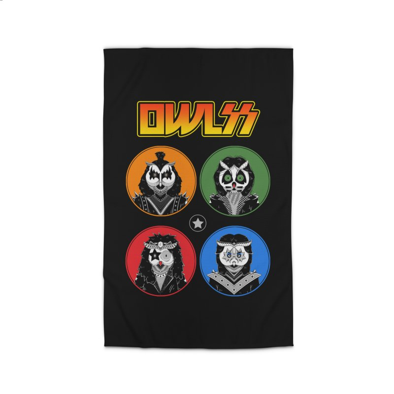 Rock and Owl All Night Home Rug by godzillarge's Artist Shop