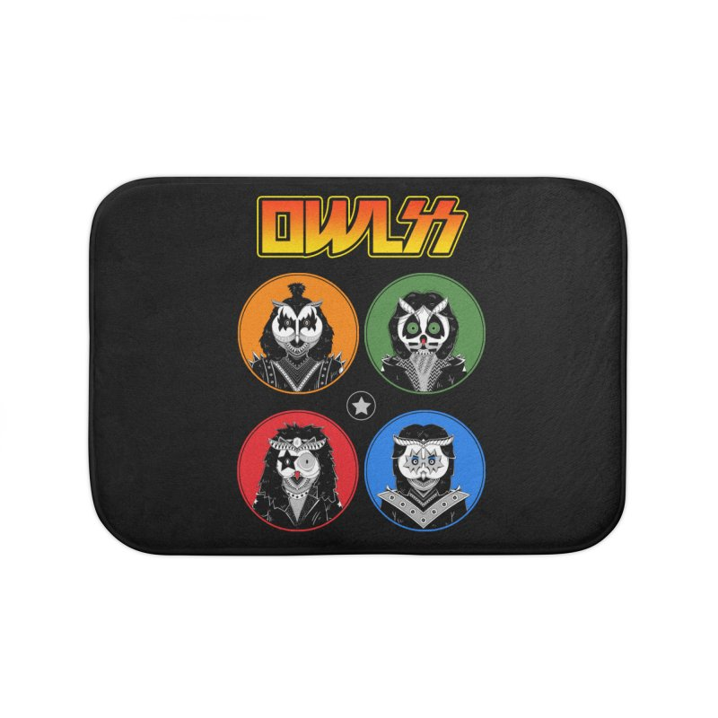 Rock and Owl All Night Home Bath Mat by godzillarge's Artist Shop